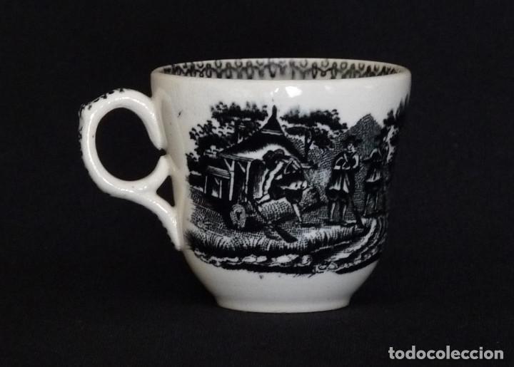 Antigüedades: Tacita de ceramica de Cartagena para café o chocolate - Foto 2 - 212349541