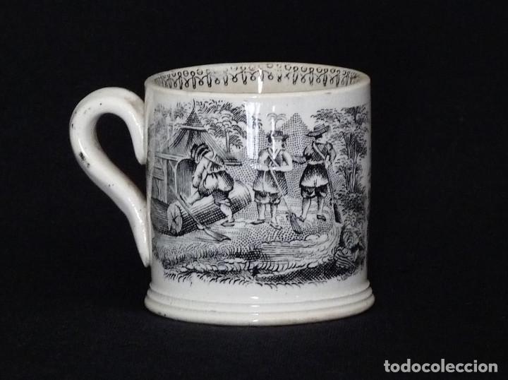 TACITA DE CERAMICA DE CARTAGENA PARA CAFÉ O CHOCOLATE. (Antigüedades - Porcelanas y Cerámicas - Cartagena)