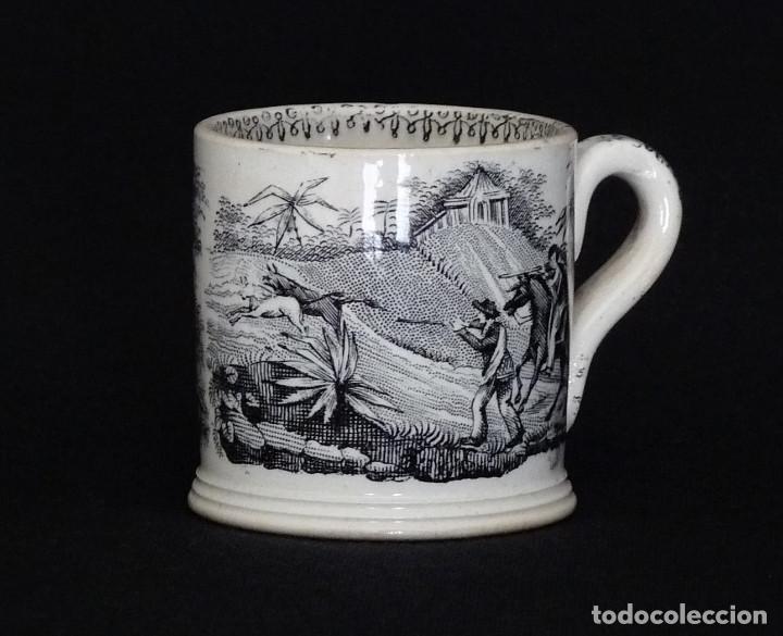 Antigüedades: Tacita de ceramica de Cartagena para café o chocolate. - Foto 2 - 212350865
