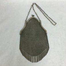 Antigüedades: ANTIGUO BOLSO DE MALLA DE PLATA. Lote 212354086