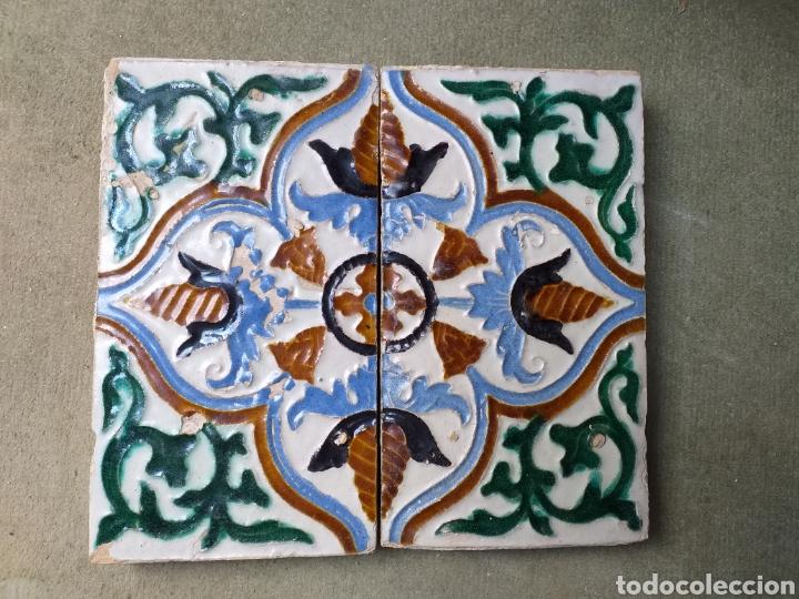 Antigüedades: Marco azulejos Triana s XVI - Foto 2 - 153456486