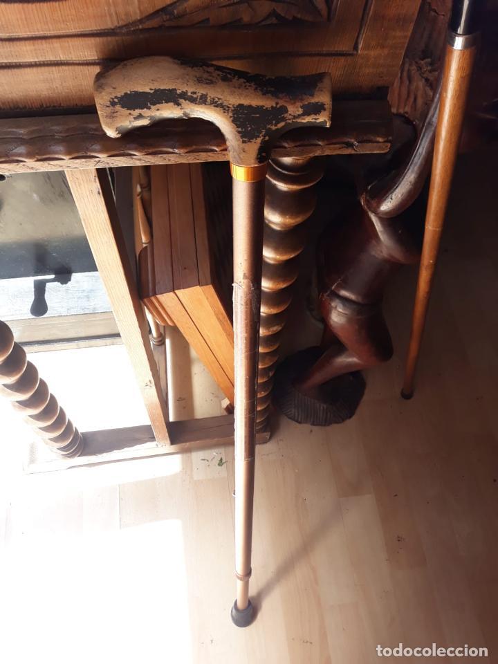 Antigüedades: precioso baston en madera - Foto 2 - 212380756