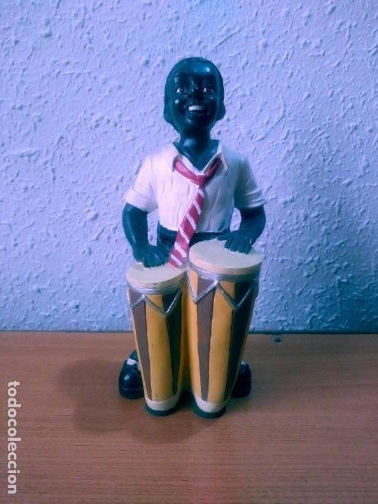 FIGURA DECORATIVA: CONGUERO JAZZ. (Antigüedades - Hogar y Decoración - Figuras Antiguas)