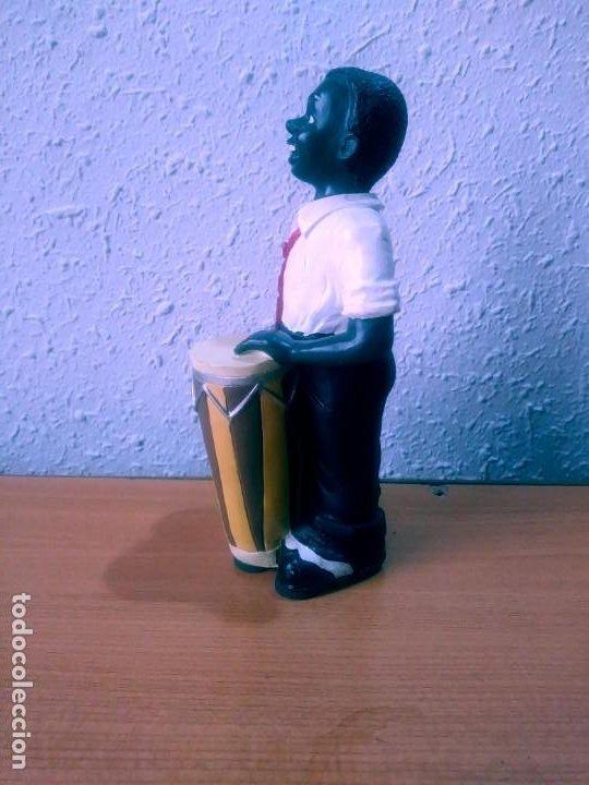 Antigüedades: Figura decorativa: conguero jazz. - Foto 2 - 212386806