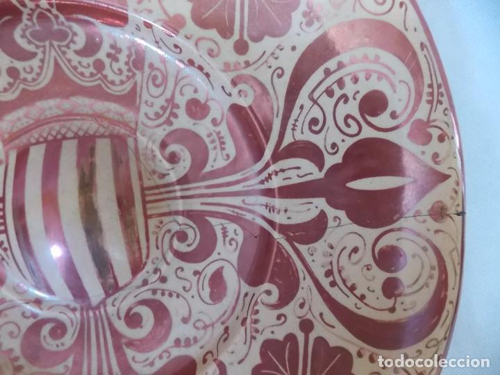 Antigüedades: PLATO CERAMICA LOZA MANISES REFLEJOS - Foto 6 - 212407747