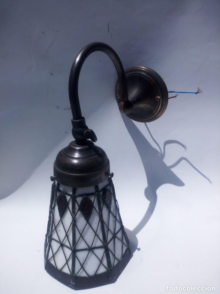 APLIQUE DE PARED TIFFANY (Antigüedades - Iluminación - Apliques Antiguos)