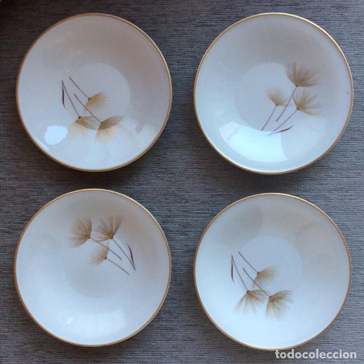 4 PLATOS PORCELANA O CASTRO- SARGADELOS. DOBLE MARCA DOLMEN Y OTRA (Antigüedades - Porcelanas y Cerámicas - Sargadelos)