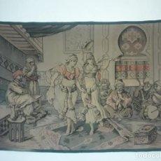 Antigüedades: EXCEPCIONAL ANTIGUO TAPIZ DE GRAN TAMAÑO CON BELLOS COLORES MOTIVOS ÁRABES 181X127CM. Lote 212428528