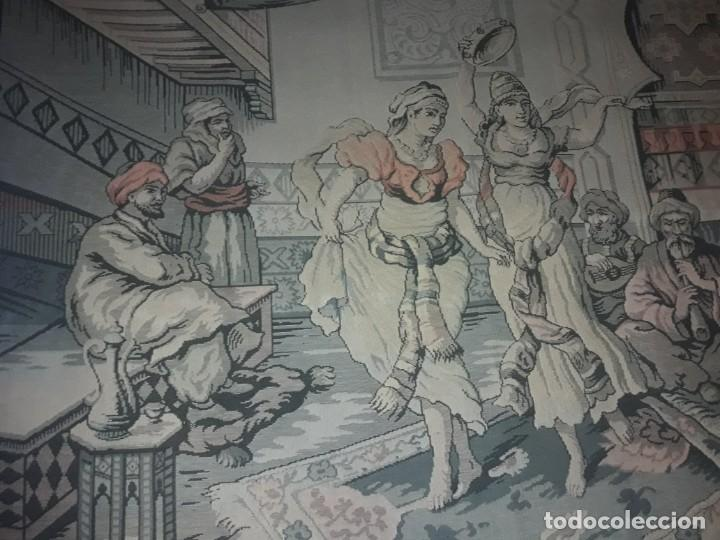 Antigüedades: Excepcional antiguo tapiz de gran tamaño con bellos colores motivos Árabes 181x127cm - Foto 8 - 212428528