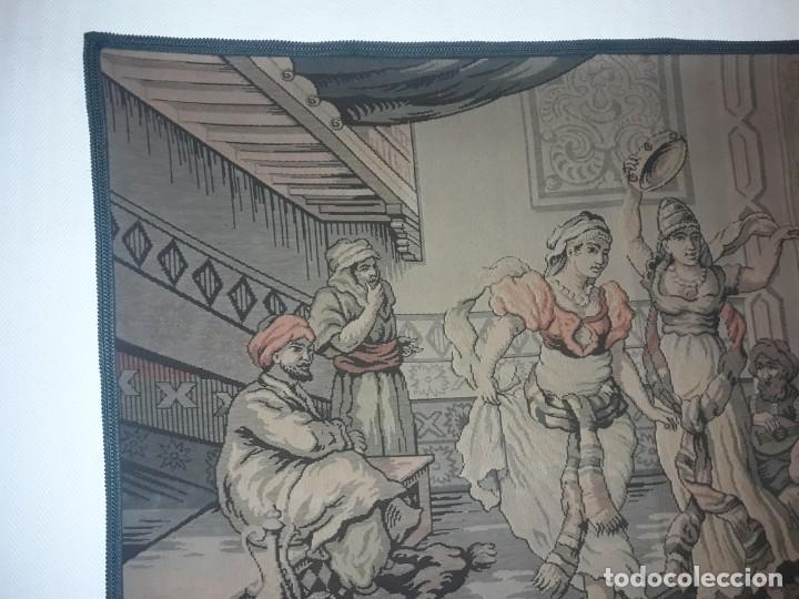 Antigüedades: Excepcional antiguo tapiz de gran tamaño con bellos colores motivos Árabes 181x127cm - Foto 10 - 212428528
