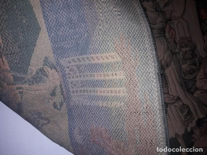 Antigüedades: Excepcional antiguo tapiz de gran tamaño con bellos colores motivos Árabes 181x127cm - Foto 16 - 212428528