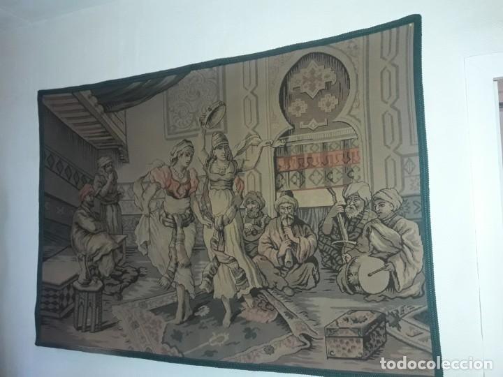 Antigüedades: Excepcional antiguo tapiz de gran tamaño con bellos colores motivos Árabes 181x127cm - Foto 17 - 212428528