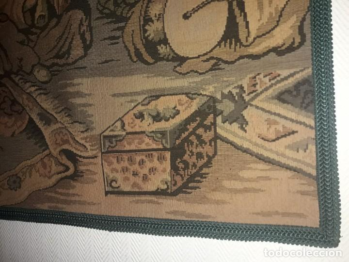 Antigüedades: Excepcional antiguo tapiz de gran tamaño con bellos colores motivos Árabes 181x127cm - Foto 19 - 212428528