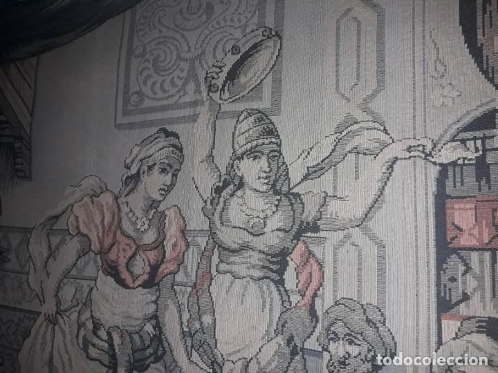 Antigüedades: Excepcional antiguo tapiz de gran tamaño con bellos colores motivos Árabes 181x127cm - Foto 20 - 212428528