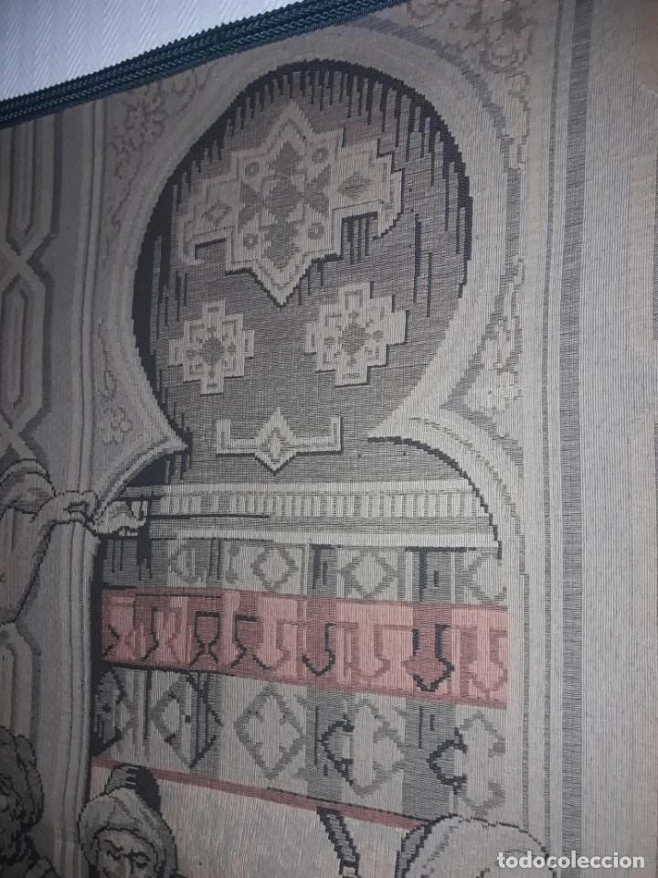 Antigüedades: Excepcional antiguo tapiz de gran tamaño con bellos colores motivos Árabes 181x127cm - Foto 21 - 212428528