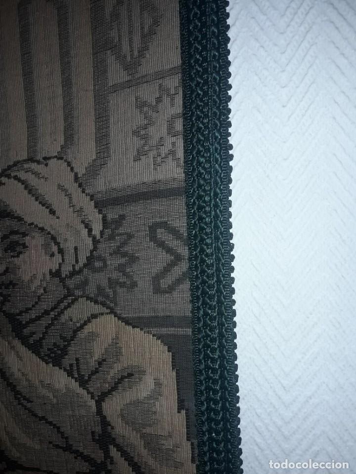 Antigüedades: Excepcional antiguo tapiz de gran tamaño con bellos colores motivos Árabes 181x127cm - Foto 22 - 212428528