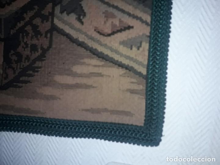 Antigüedades: Excepcional antiguo tapiz de gran tamaño con bellos colores motivos Árabes 181x127cm - Foto 23 - 212428528