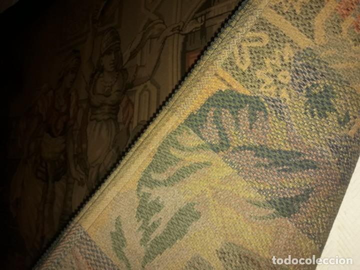 Antigüedades: Excepcional antiguo tapiz de gran tamaño con bellos colores motivos Árabes 181x127cm - Foto 24 - 212428528