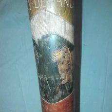 Antigüedades: EXCEPCIONAL ANTIGUA MOCA PORRA ARMA DE MADERA DE GRAN CALIDAD TALLADA PIEZA ÚNICA 88CM. Lote 212430182