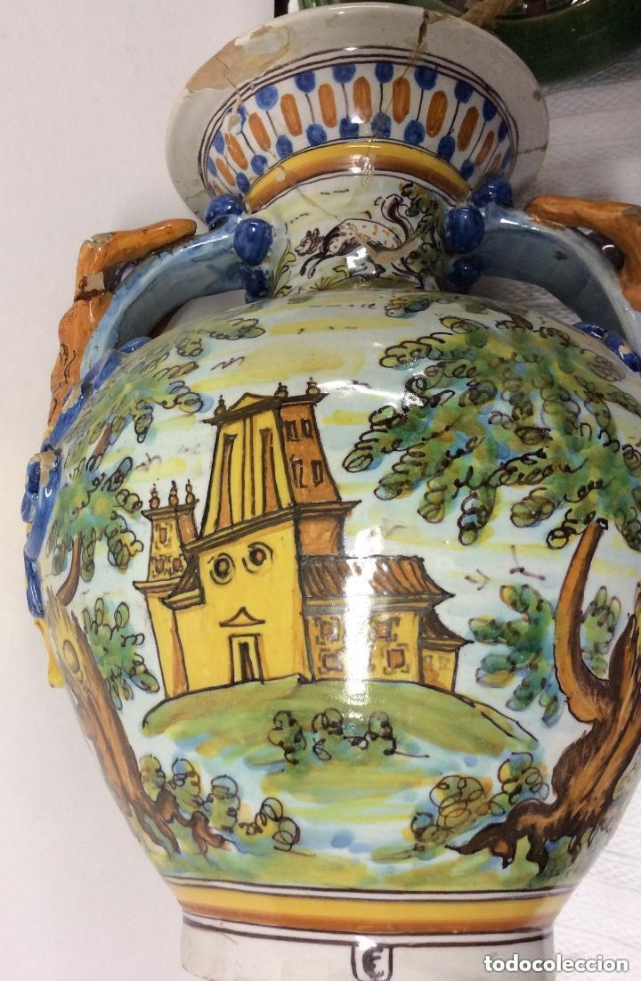 Antigüedades: Jarrón de cerámica de Talavera - Ruiz de Luna.Firmado - Foto 3 - 212475423