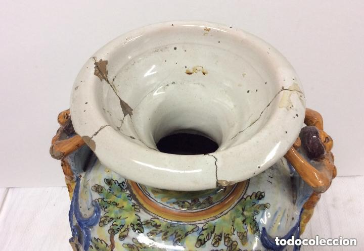 Antigüedades: Jarrón de cerámica de Talavera - Ruiz de Luna.Firmado - Foto 6 - 212475423