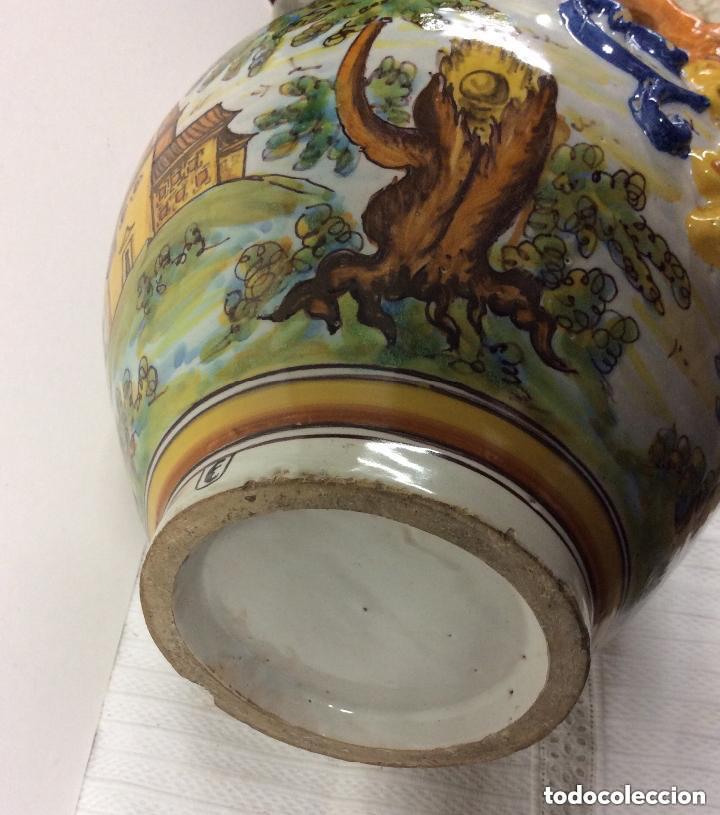 Antigüedades: Jarrón de cerámica de Talavera - Ruiz de Luna.Firmado - Foto 7 - 212475423