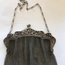 Antiquités: BOLSO DE PLATA MALLADO. Lote 212483512
