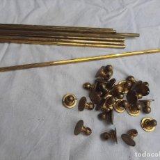 Antigüedades: VARILLAS DE LATÓN PARA VISILLOS S. XIX. Lote 212511872