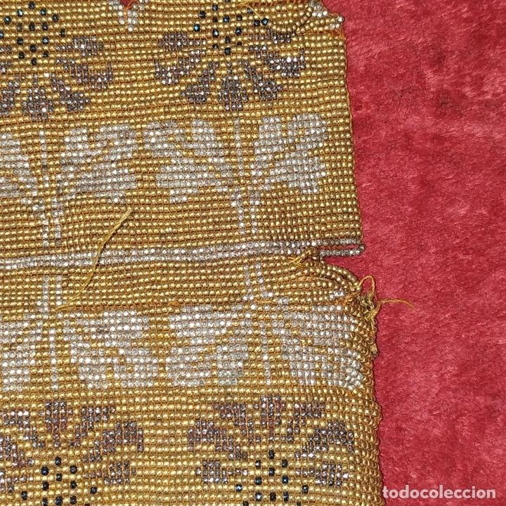 Antigüedades: 2 BOLSOS DE DAMA. REALIZADOS CON PERLAS DE CRISTAL. ESPAÑA. SIGLO XIX - Foto 5 - 212513917