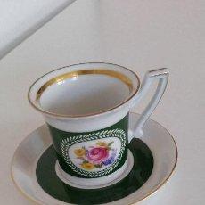 Antigüedades: MAGNIFICA TAZA A CAFE EXPRESSO PORCELANA ALEMANIA , GERMANY N. 26,HARTHKRZALAN. Lote 212523648
