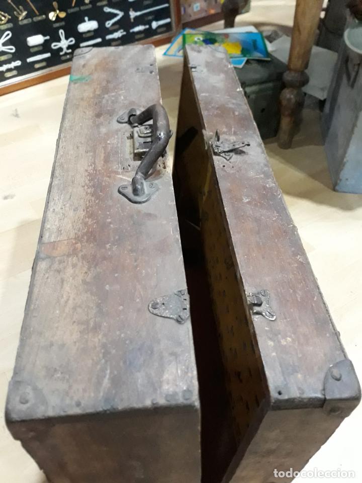 Antigüedades: Baúl arcón de viaje en madera - Foto 3 - 212526048