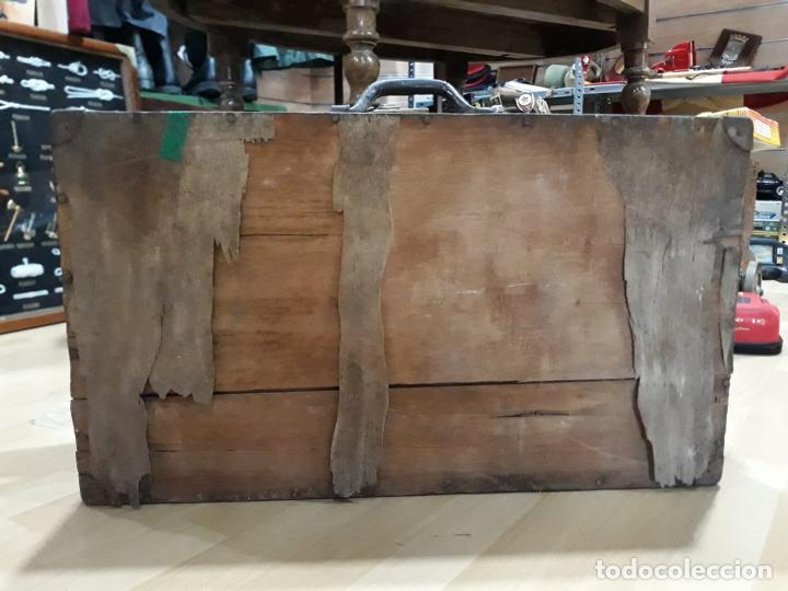 Antigüedades: Baúl arcón de viaje en madera - Foto 5 - 212526048