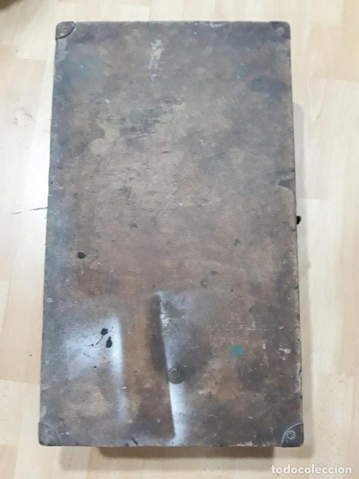 Antigüedades: Baúl arcón de viaje en madera - Foto 6 - 212526048