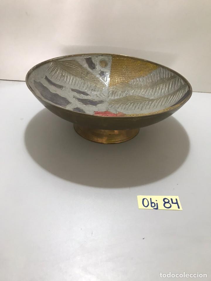 Antigüedades: CENTRO DE MESA ORIENTAL METÁLICO - Foto 2 - 212543717