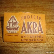 Antigüedades: (REF-002) FARMACIA MEDICAMENTO TABLETA AKRA. Lote 212552212