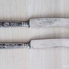 Antigüedades: ANTIGUOS CUCHILLOS DE POSTRE CON MARCA DE CALIDAD GARANTIZADA. Lote 212553127