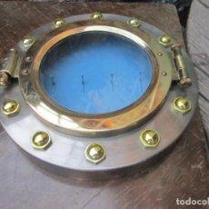 Antigüedades: OJO DE BUEY ESCOTILLA DE BARCO METAL MARCO PARA COLGAR LLAVES MEDIDA 22 X 4 CM.. Lote 212559210