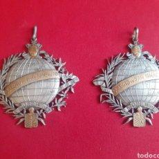 Antigüedades: 2 MEDALLAS COLEGIO DE SAN IGNACIO. Lote 212583532