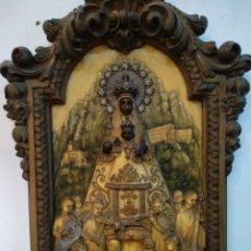 Antigüedades: ANTIGUO CUADRO EN RELIEVE, VIRGEN DE MONTSERRAT, MORENETA.. Lote 212604058