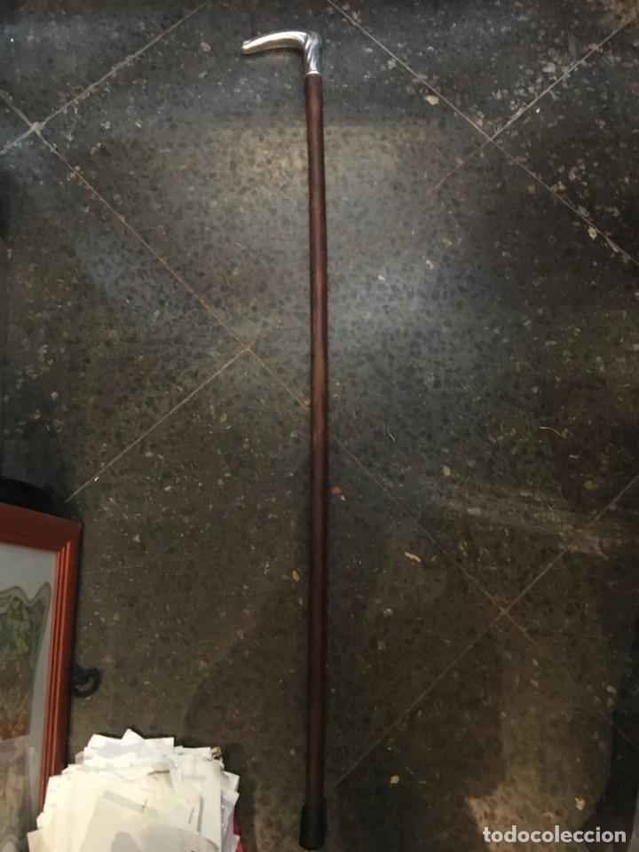 Antigüedades: ANTIGUO BASTON DE PLATA DE LEY .CON CONTRASTES - PUÑO 10,5X2,3 CM. 93 CM. DE LARGO - Foto 5 - 212625182