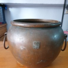 Antigüedades: CALDERA DE COBRE ANTIGUA. Lote 212637488