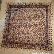 Antigüedades: TELAR DE YUTE (ARTESANÍA IRANÍ) PINTADO Y CONFECCIONADO A MANO. Lote 212646942