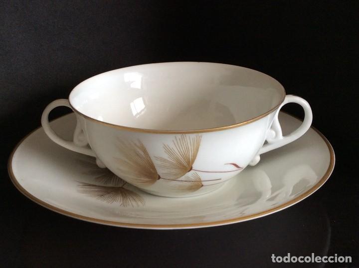 Antigüedades: Conjunto de tazon y plato porcelana El Castro- Sargadelos - Foto 2 - 212656906