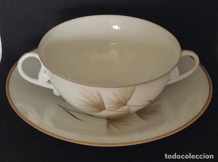 Antigüedades: Conjunto de tazon y plato porcelana El Castro- Sargadelos - Foto 3 - 212656906