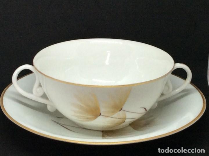 Antigüedades: Conjunto de tazon y plato porcelana El Castro- Sargadelos - Foto 4 - 212656906