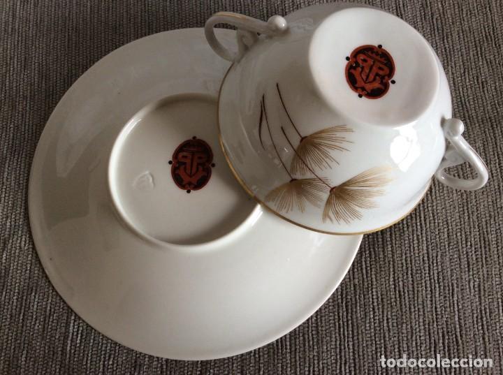 Antigüedades: Conjunto de tazon y plato porcelana El Castro- Sargadelos - Foto 5 - 212656906