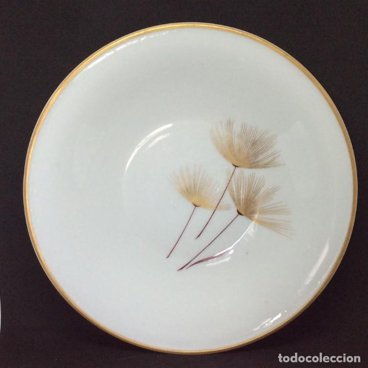 Antigüedades: Conjunto de tazon y plato porcelana El Castro- Sargadelos - Foto 8 - 212656906