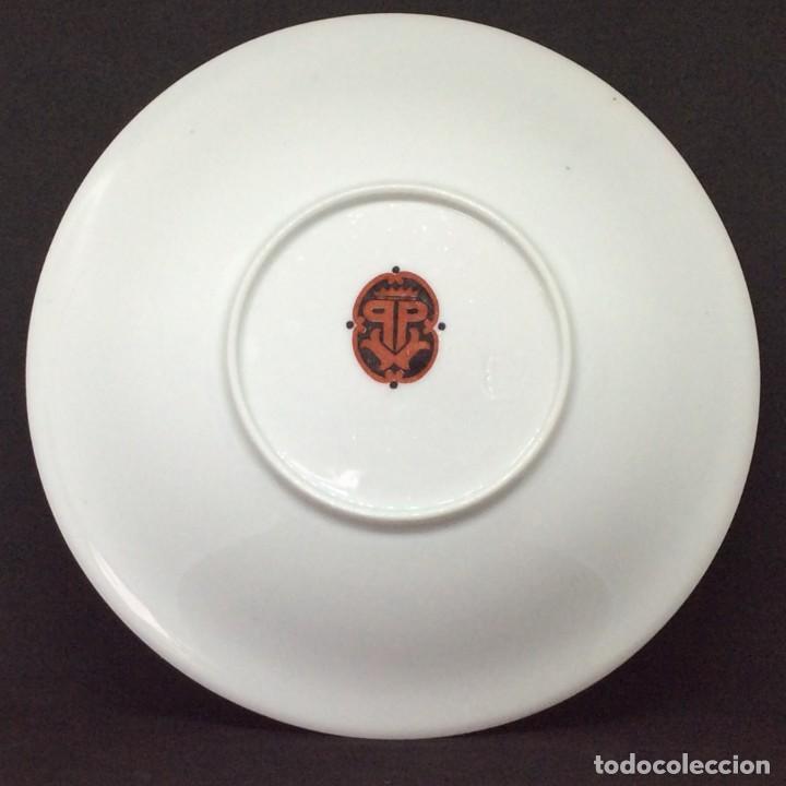 Antigüedades: Conjunto de tazon y plato porcelana El Castro- Sargadelos - Foto 10 - 212656906
