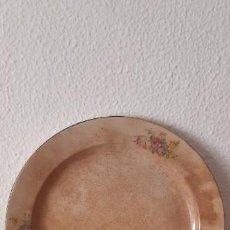 Antigüedades: BANDEJA REDONDA DE CERÁMICA, LOZA DE SAN JUAN DE AZNALFARACHE, 33 CMS. DE DIÁMETRO.. Lote 212723008