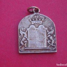 Antigüedades: MEDALLA LA CORAZA DE LA TORÁ. JUDÍO.. Lote 212729182